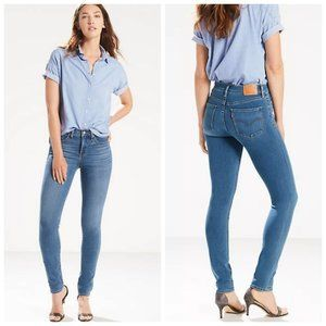 LEVI'S 311 Blue High Rise Shaping Skinny Jeans